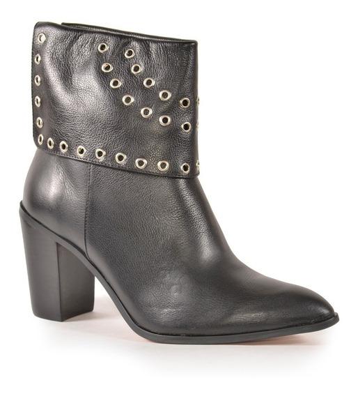 Zapatos Botineta De Cuero De Mujer Turba - Ferraro