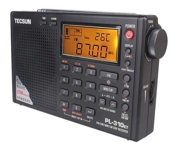 Rádio Tecsun Pl-310-et Am Fm Sw Oc Portátil Dsp Digital