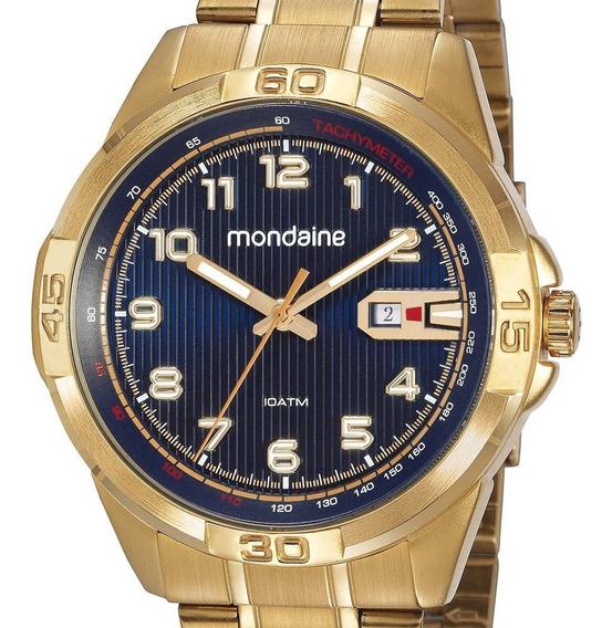 Relógio Mondaine Casual 53801gpmvds1 Dourado Masculino + Nf