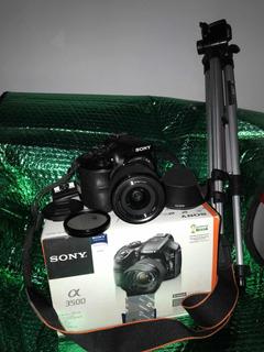 Camara Sony Alpha 3500 + Tripode + Caja