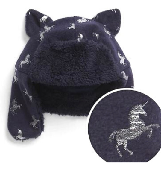 Touca Gorro Unicornio Menina Fleece Gap Original Forrado