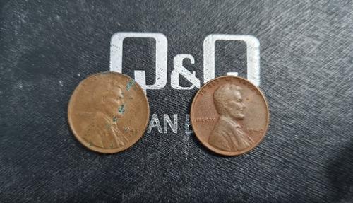 Imagen 1 de 1 de Centavos Estadounidense De 1940 Y 1945