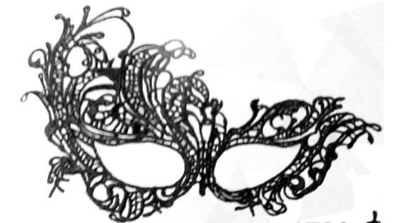 Mascara Antifaz , Encaje Negro - 50 Sombras De Grey- Disfraz