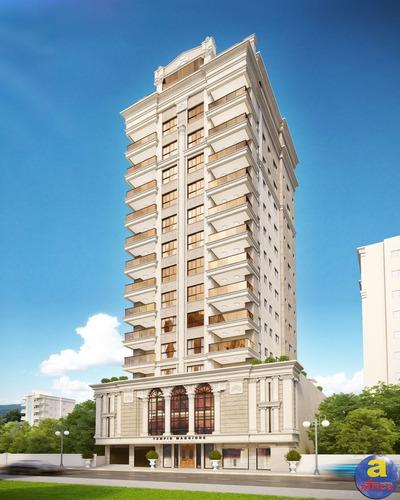Imagem 1 de 10 de Apartamento 3 Suítes, 2 Vagas De Garagem Na Meia Praia Em Itapema/sc - Imobiliária África - Ap00333 - 69667075