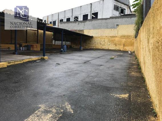 Terreno Para Alugar, 675 M² Por R$ 3.500/mês - Vila Assunção - Santo André/sp - Te0953
