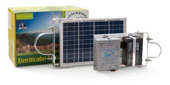 Cerca Elétrica Solar 2.100m Eletrificador C/ Bat Zebu Zs20bi