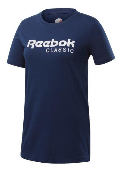 Reebok Remera Lifestyle Mujer Classics Azul Marino