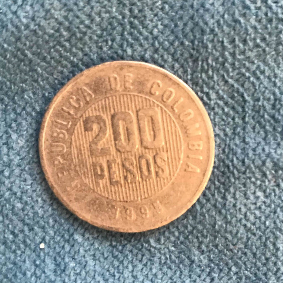 Moneda 200 Pesos Colombianos- Año 1995