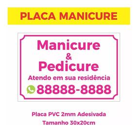 Placa Manicure Pedicure 30x20cm