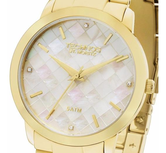 Relógio Technos Dourado Feminino Lindo 2036lna/4b