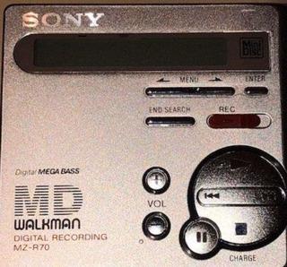 Minidisc Sony Mz-r70 Digital Recording Walkman Sin Envio