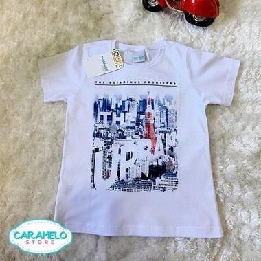 Camiseta Infantil Bebe Menino Malwee Tamanho 1 E 2