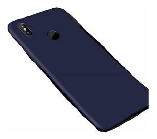 Capa Case Slim Fosca Borracha Xiaomi Mi A2+ Película Vidro