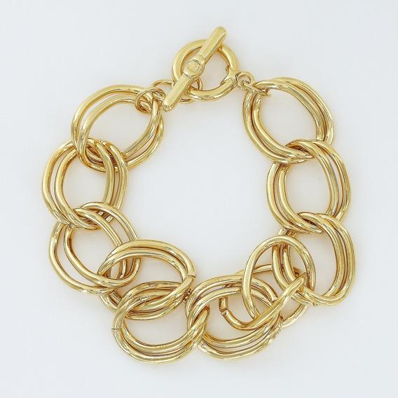 Morana | Pulseira Dourada Elos Banho Em Ouro