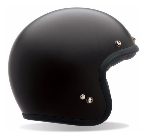 Capacete Bell Custom 500 Preto Fosco Café Racer Retro Harley