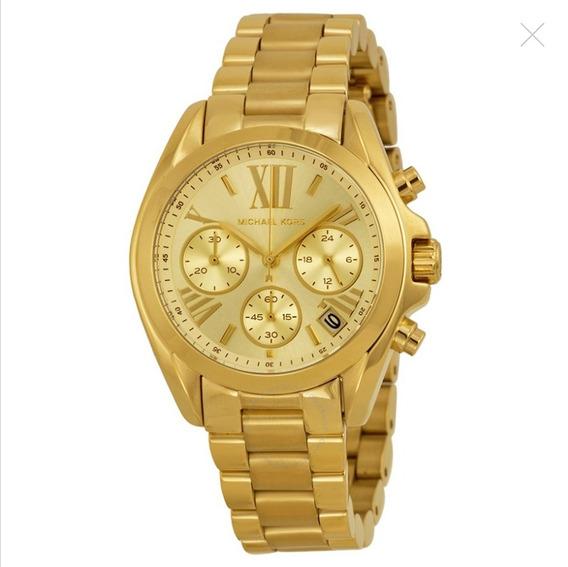 Relógio Michael Kors Chronograph Champagne Dial Gold-tone