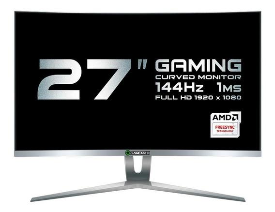 Monitor Gamer Gamemax 27 Curvo 144hz 1ms Full Hd Branco