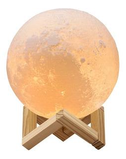 Redlemon Lámpara Luna Grande Impresión 3d Réplica Exacta 18c