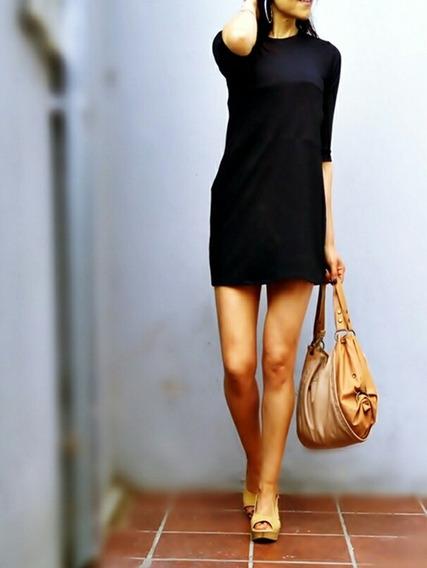 Vestido Jackie Mini Manga 3-4 Talles Reales Caro-r