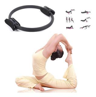 Anel Tonificador Arco Pilates Yoga Flexível Fitness Preto