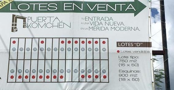 Terreno De Inversion En Puerta Komchen Lote 68 De 15x50 Propiedad Privada