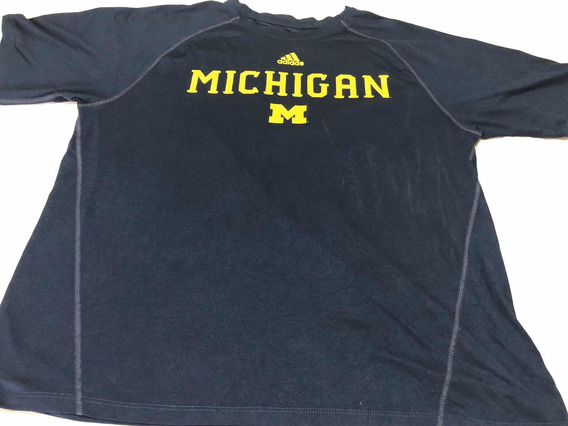 Remera Universitaria Usa adidas Climalite. Michigan Talle L
