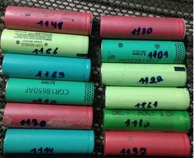 Lote 12 Celulas 18650 Testadas