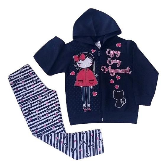 Kit 2 Conjuntos De Moletom Infantil Menina Roupa Inverno