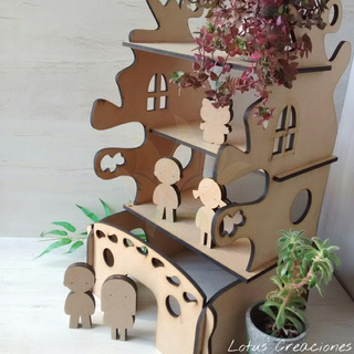 Casa Muñecas -corte Láser-