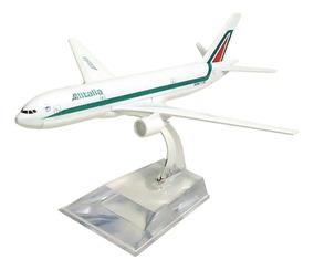 Avião Comercial Alitalia Boeing 777 Metal Miniatura