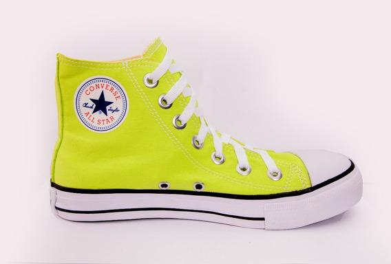 Tênis Converse All Star Chuck Taylor Cano Alto Verde Neon