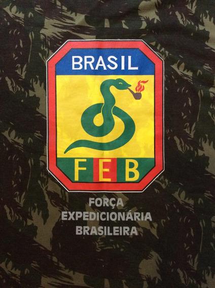 Camiseta Camuflada Feb Segunda Guerra Exercito Brasil Tam. G