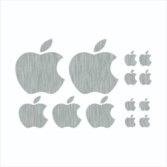 13 Adesivos Maçã Apple Vinil Aço Escovado - iPhone iPad Mac