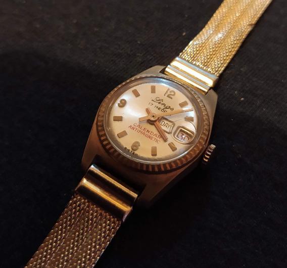 Relógio Lings 17 Rubis Feminino À Corda - Leia A Descrição