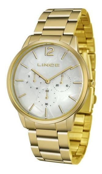 Relógio Dourado Lince Analógico Feminino Lmgj087l B2kx