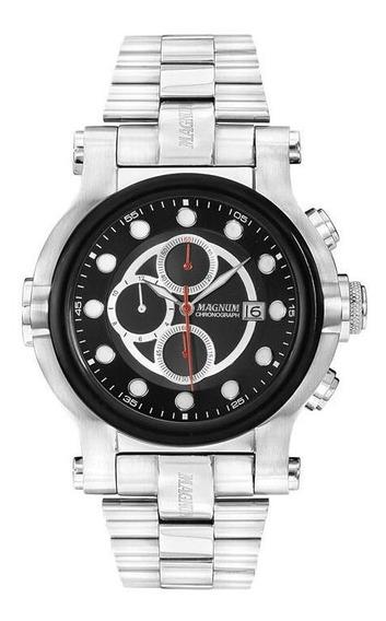 Relógio Magnum Caixa Grande Cronógrafo Ma32292t - Nfe