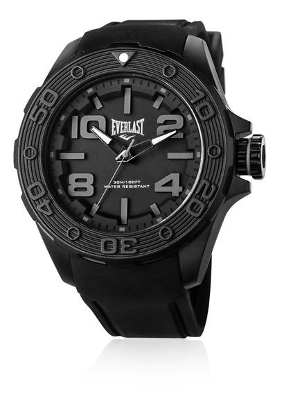 Relógio Everlast Force Cx Abs Pulseira Silicone - Preto
