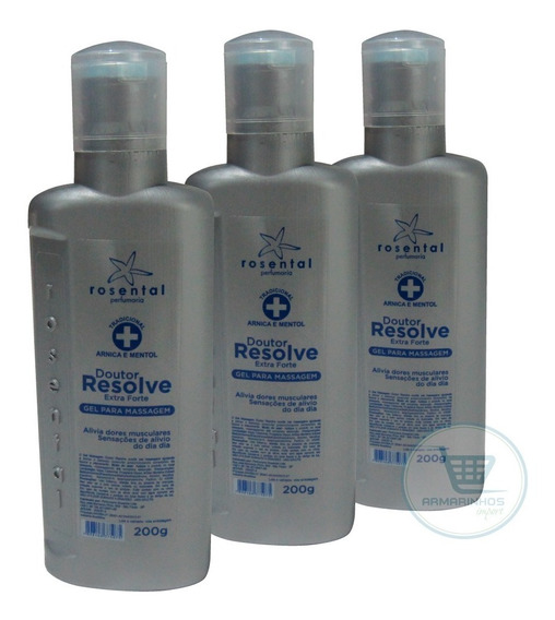 Gel Massageador Arnica + Menta - Kit 3 Unidades 200gr