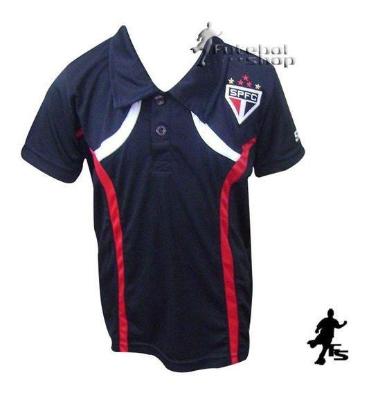Camisa Polo Do Spfc Dry Infantil - 16067b