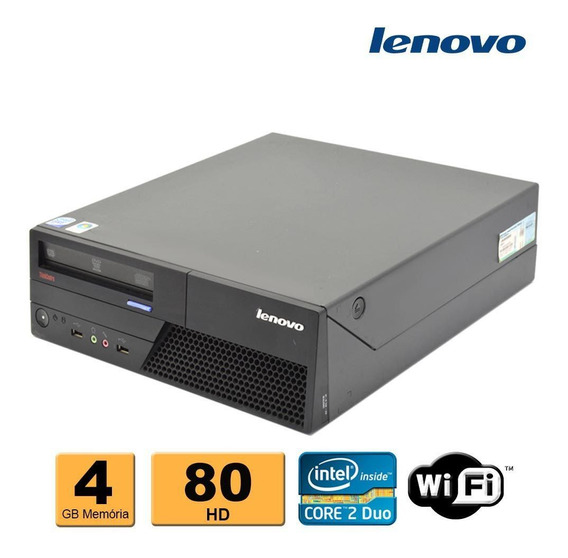 Cpu Desktop Lenovo C2d E8400 4gb Ddr3 Hd 80gb Leitor Dvd Wif