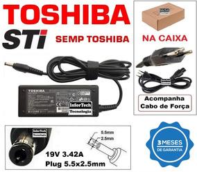 Fonte Carregador Para Notebook Toshiba 19v 3.42a Nova!