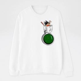 Sudadera Hombre Dragon Ball Goku Radar Esferas Blanca