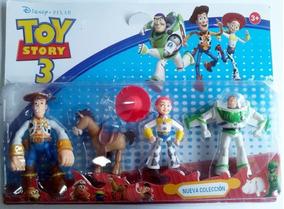 Kit 4 Personagens Toy Story Woody Jessie Buzz Lightyear Bala