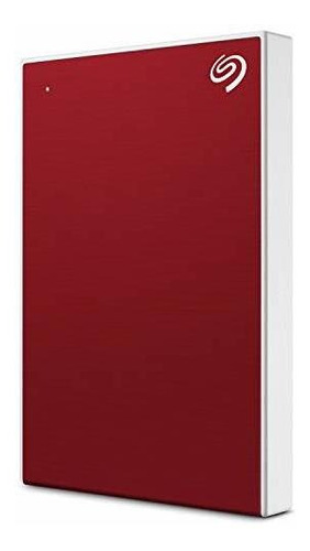 Disco Duro Externo Seagate Portátil De 2 Tb Plus Slim, Rojo