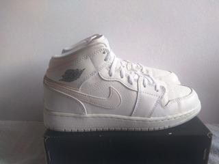 Jordan Retro 1 Mid White Cool Grey 23.5mx