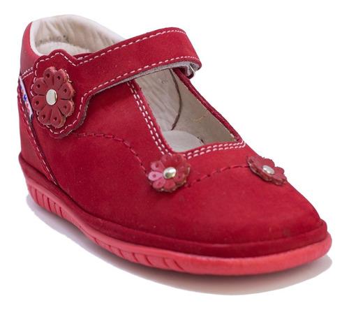 Zapatos De Niñas En Cuero Rojo Mod. 247
