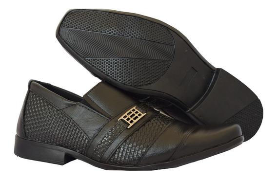 Sapato Couro Legitimo Com Solado Ante-derrapante Sem Verniz