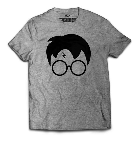 Camiseta Camisa Harry Potter Minimalista Marca Bruxo Magia