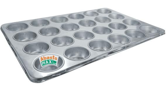 Molde Charola Hornear Repostería Panqués Muffin Cupcake 24c