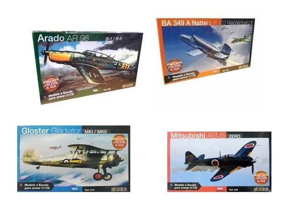 Set De Aviones Para Armar X 4 1/72